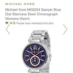 Michael Kors Accessories - Micheal Kors Sawyer Blue Dial Watch